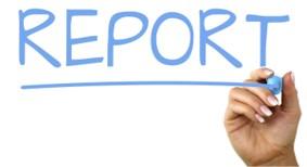 Report written on a whiteboard